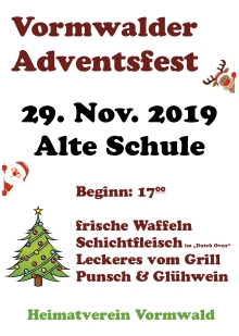 Plakat Adventsfest